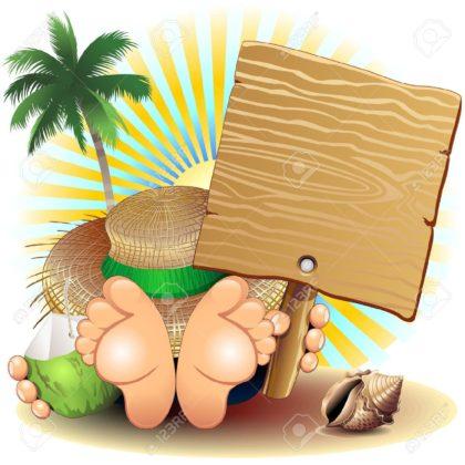 18338943-Relax-Summer-Holidays-at-the-Beach-Stock-Vector-cartoon